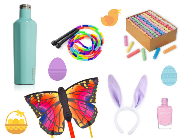 Healthy happy sugar free easter basket ideas healthy happy as far as the candy that our girls find in their baskets they usually find a few small dark chocolate eggs one small dark chocolate hollow bunny negle Image collections